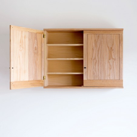 Hanging cupboard for the kitchen, handmade in solid wood