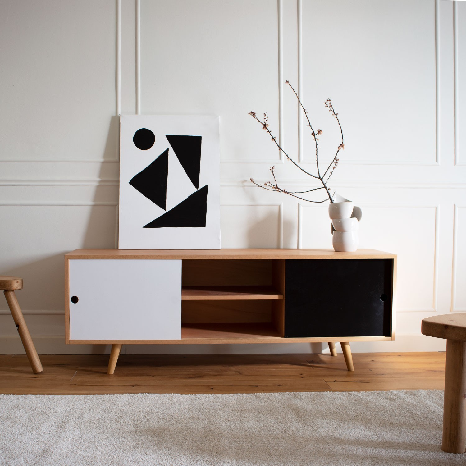 Mid-century Low in Black and White