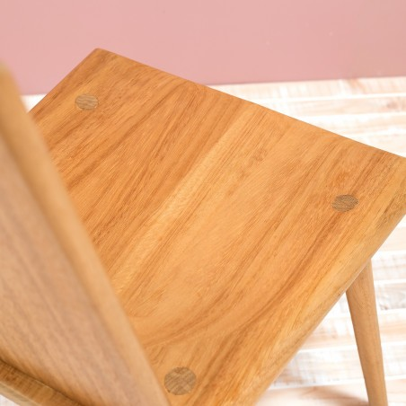 Handmade wood chair in Iroko by Design Mob
