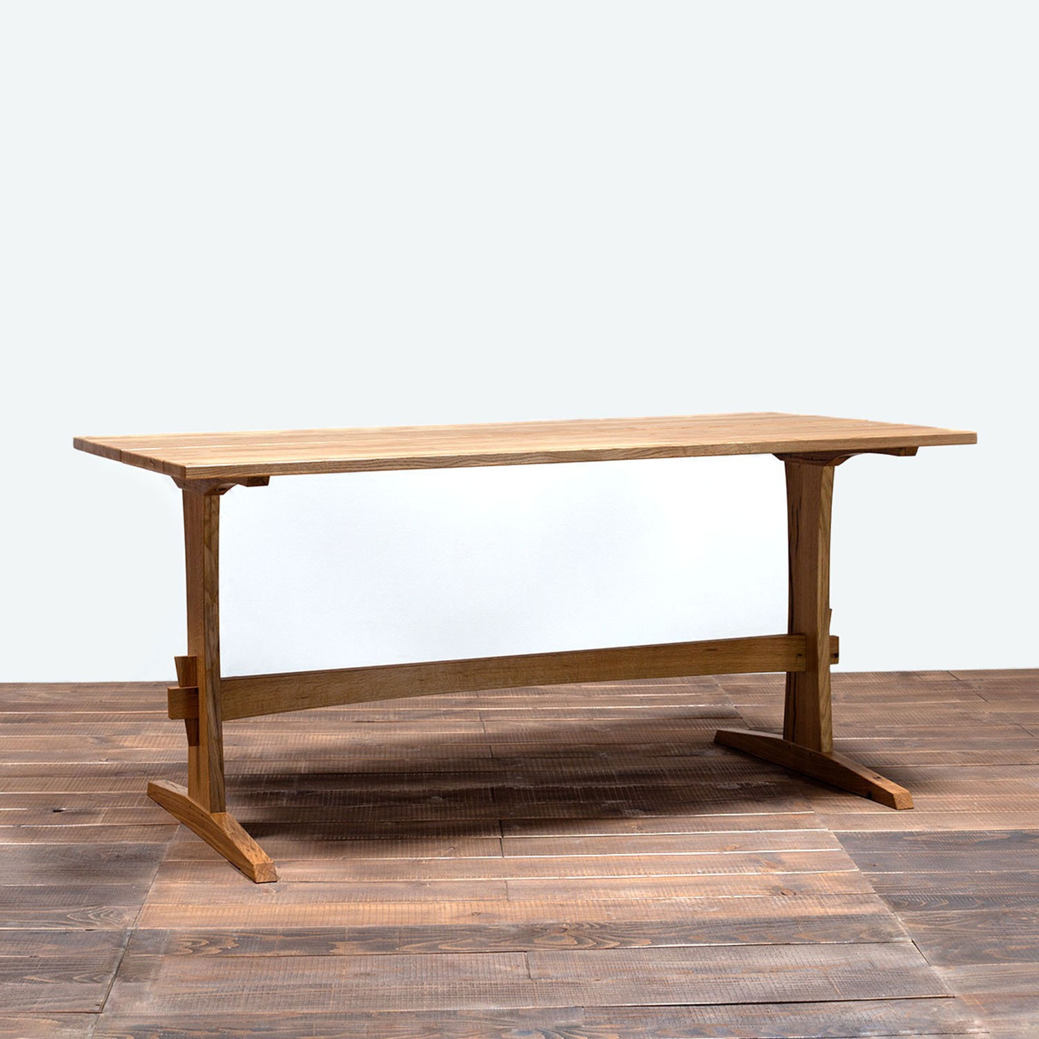 Oak trestle table by Design Mob